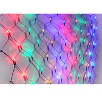 Гирлянда сетка, светодиодная, мультицвет  LED 1,5 на 1,5 метра
