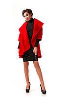 Женское пальто из кашемира недорого. Модель ПЛ001_Красный., фото 1