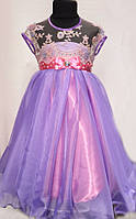 Праздничное платье для девочки под пояс 2361