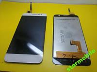 Дисплей для мобильного телефона Bravis HIT, белый, с тачскрином ORIGINAL