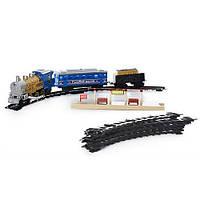 Детская железная дорога 7014 «Голубой вагон», 12 предметов, ж/д полотно 282см, перрон