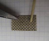 Сетка для пайки латунная, рулончик 1м х 10см