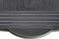 Резинка декоративная 60мм. черный , фото 1