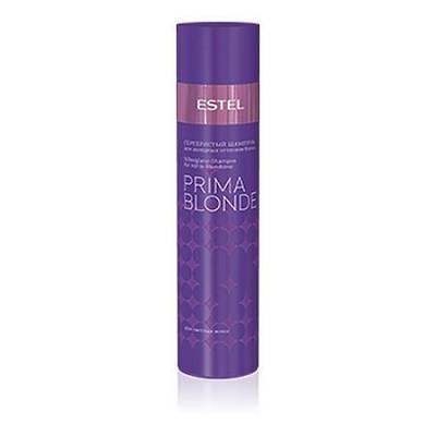 Серебристый шампунь OTIUM Prima Blonde для холодных оттенков блонд