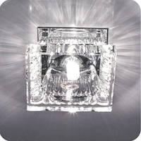 Cветильник точечный FERON JD136 JCD9 35W прозрачный хром