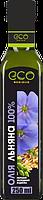 Льняное масло пищевое Eco Olio 100% чистое первого холодного отжима, 250 мл.