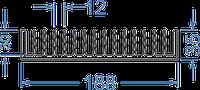Алюминиевый радиаторный профиль 188x35 мм без покр, в аноде, черный анод