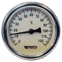 "Термометр 1/2"" Watts F+R801 биметаллический аксиальный Т 63/50 Ø63mm 0-120°C L-50mm"
