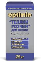 Оптимин Теплый Раствор клей для газобетона, 25кг