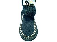 Высокие тапочки - носочки с помпоном