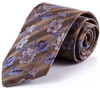 Классический мужской галстук из шелка SCHONAU & HOUCKEN (ШЕНАУ & ХОЙКЕН) FARESHS-122- коричневый
