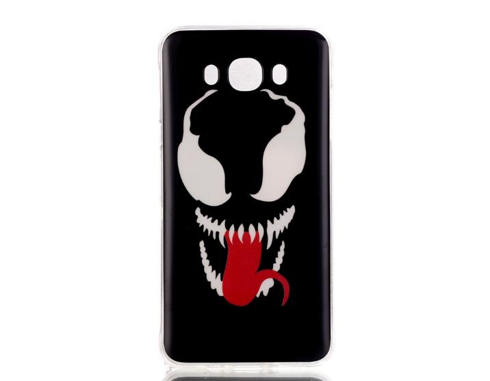 Чехол накладка силиконовая для Samsung Galaxy J710 с картинкой Морда с языком