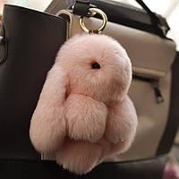 Меховой брелок на сумку в виде зайчика (натуральный мех)