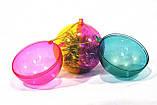 Новогодний прозрачный разъемный шар для конфет, фото 3