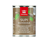 Лак влагозащитный TIKKURILA  SUPI SAUNASUOJA для древесины, 0,9л