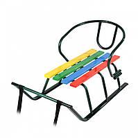 Детские санки «Лайка» (с цветными планками)