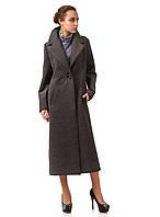 Женское пальто-халат серое