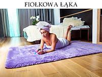 Ковер плюшевый фиолетовый 140x200 SHOCK