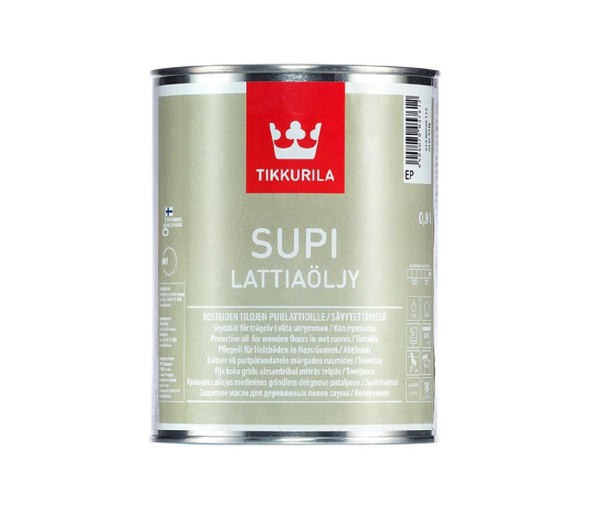 Масло влагозащитное TIKKURILA  SUPI FLOOR OIL для полов 0,9л