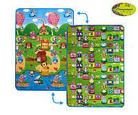 """Детский двусторонний коврик """"Солнечный день и цветные циферки"""", 120х180 см"""
