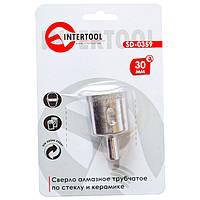 Сверло алмазное трубчатое по стеклу и керамике 30 мм INTERTOOL SD-0359