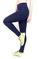 Лосины спорт синие -вставка Nike