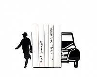 Держатель для книг Писатель и автомобиль