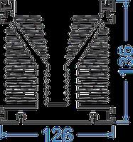 Алюминиевый радиаторный профиль 126x136 мм без покр, в аноде, черный анод