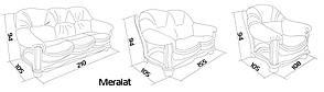 """Классическое мягкое кресло """"Hammer"""" (Хаммер). (108 см), фото 2"""