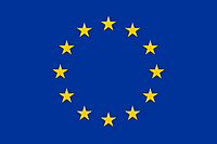 Флаг ЕС 14х25 см, атлас