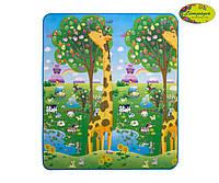 """Детский двусторонний коврик """"Большая жирафа и Парк развлечений"""", 150х180 см"""