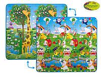 """Детский двусторонний коврик """"Большая жирафа и Парк развлечений"""", 200х180 см"""