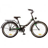 """Велосипед Formula Smart 20"""" 14G рама-13"""" St 2017 (OPS-FR-20-025) черно-зеленый с багажником и фонарем"""