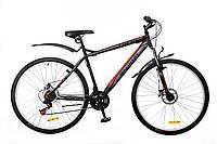 """Велосипед Discovery Trek 29"""" AM 14G DD St 2016 (OPS-DIS-29-012) черно-серо-красный"""
