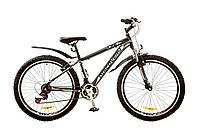 "Велосипед Discovery Trek 26"" AM 14G DD рама-15"" St 2017 (OPS-DIS-26-072) черно-серо-белый"