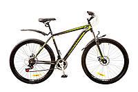 "Велосипед Discovery Trek 29"" AM 14G DD рама-21"" St 2017 (OPS-DIS-29-022) серо-черно-зеленый"