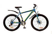 "Велосипед Discovery Trek 26"" AM 14G DD рама-18"" St 2017 (OPS-DIS-26-074) сине-черно-зеленый"