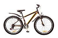 "Велосипед Discovery Trek 26"" AM 14G DD рама-18"" St 2017 (OPS-DIS-26-075) серо-черно-оранжевый"