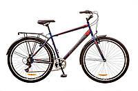 """Велосипед Discovery Prestige Man 29"""" 14G Vbr рама-19,5"""" St 2017 (OPS-DIS-29-025) сине-серо-красный с багажником"""
