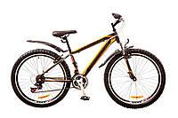 "Велосипед Discovery Trek 26"" AM 14G Vbr рама-15"" St 2017 (OPS-DIS-26-079) серо-черно-оранжевый"