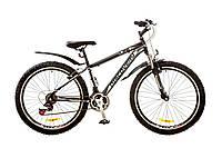"Велосипед Discovery Trek 26"" AM 14G Vbr рама-15"" St 2017 (OPS-DIS-26-080) черно-серо-белый"