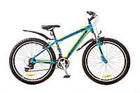 "Велосипед Discovery Trek 26"" AM 14G Vbr рама-18"" St 2017 (OPS-DIS-26-082) сине-черно-зеленый"