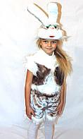 Дитячий новорічний карнавальний костюм зайчика