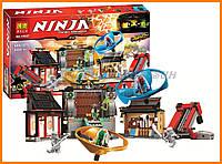"""Конструктор Bela Ninja 10527 (аналог Lego Ninjago 70590) """"Боевая площадка для аэроджитцу"""" 686 дет"""