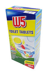 Таблетки W 5 для чистки унитаза и сливных труб