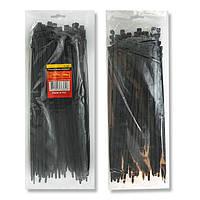 Хомут пластиковый черный (стяжка нейлоновая), 4.8x300 мм INTERTOOL TC-4831