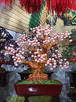 Дерево из розового жемчуга 25 см