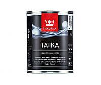 """Краска """"перламутр"""" TIKKURILA TAIKA  PAINT, серебристая (база НМ), 0,9л"""