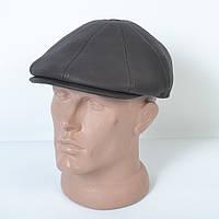 Мужская кепка пятиклинка на зиму с ушками из кожзама- Модель 29-569