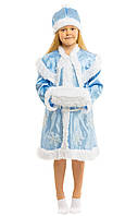 Дитячий новорічний карнавальний костюм снігуроньки